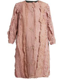Lace-appliqué Cotton Coat