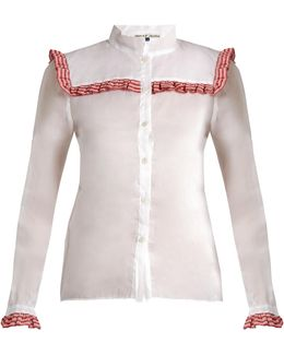Americano Embroidered Cotton-organdy Shirt