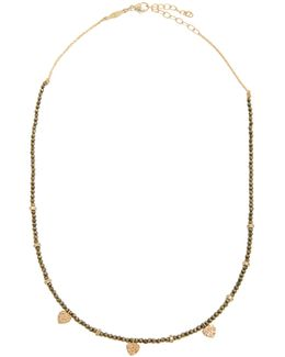 Diamond, Pyrite & Yellow-gold Necklace