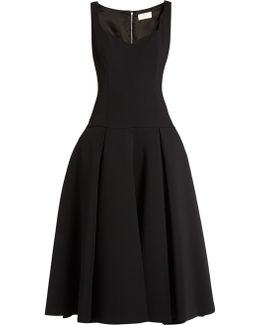 Full-skirt Drop-waist Midi Dress
