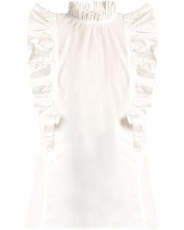 Mia Ruffled-collar Cotton Top
