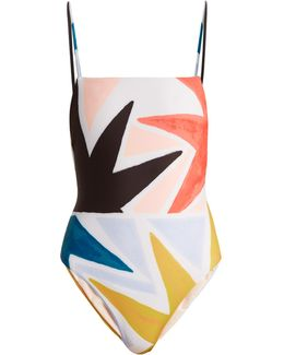 Superstar-print Swimsuit