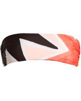 Superstar-print Bandeau Bikini Top