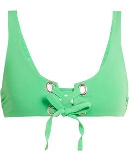 Lace-up Bikini Top