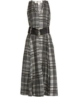 Sleeveless Silk-twill Midi Dress