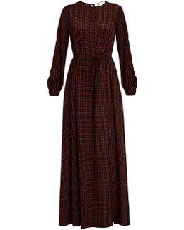 Ferma-print Silk Maxi Dress