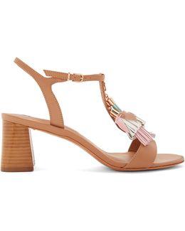 Juno Tassel-embellished Leather Sandals