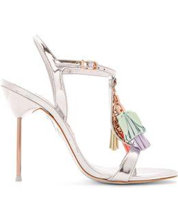 Layla Tassel-embellished Leather Sandals