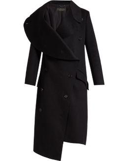 Asymmetric Double-faced Wool Coat