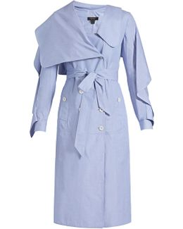 Ruffled Cotton-chambray Shirtdress