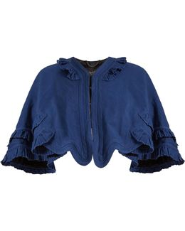 Ruffled Ramie And Cotton-blend Cape
