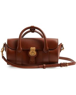 Trench Small Textured-leather Barrel Bag