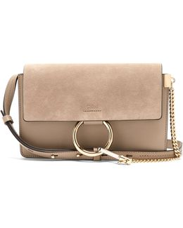 Faye Small Suede And Leather Cross-body Bag