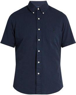 Short-sleeved Cotton-seersucker Shirt