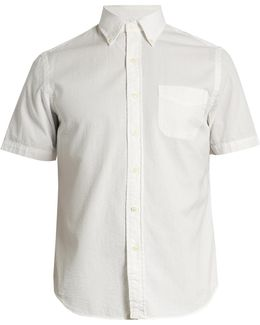 Patch-pocket Cotton-seersucker Shirt