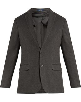 Single-breasted Stretch-cotton Jersey Blazer