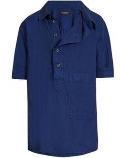 Asymmetric-placket Short-sleeved Shirt
