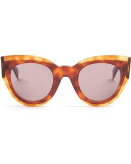 Petra Cat-eye Acetate Sunglasses