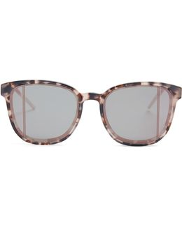Step Mirrored Acetate Sunglasses