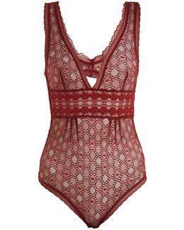 Jasmine Geometric-lace Bodysuit