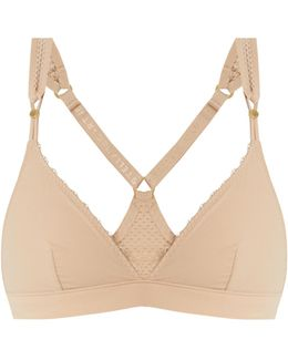 Frappe Perforated Soft-cup Bra