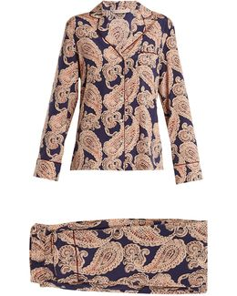 Poppy Snoozing Paisley-print Pyjama Set