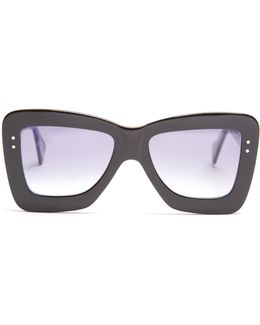 X Cutler And Gross Square-frame Acetate Sunglasses