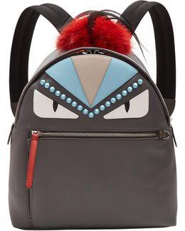 Bag Bugs Nylon And Fur Backpack