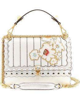 Kan I Floral-appliqué Leather Shoulder Bag
