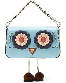 Micro Baguette Fur-embellished Cross-body Bag