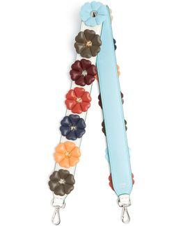 Strap You Floral-appliqué Leather Bag Strap