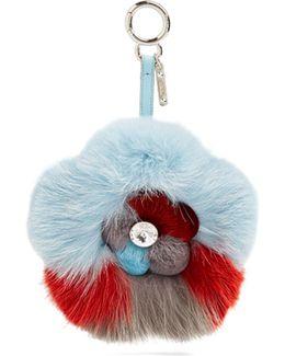 Blossom Fur Bag Charm