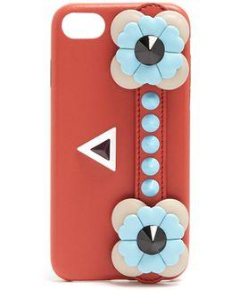 Flowerland-embellished Leather Iphone® 7 Case