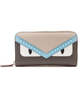 Bag Bugs Zip-around Leather Wallet