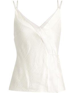 Lymer Silk-satin Seersucker Cami Top