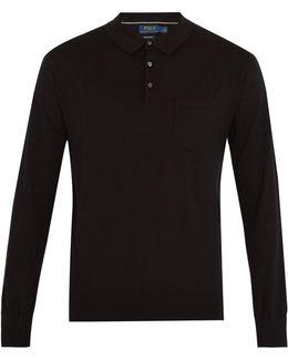 Patch-pocket Cotton-knit Polo Shirt