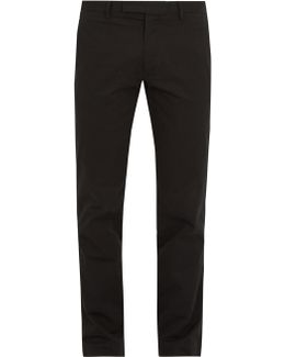Slim-fit Stretch-cotton Chino Trousers