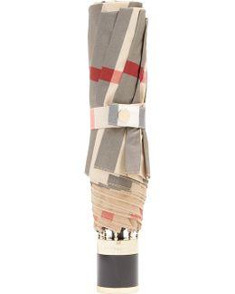 Trafalgar Check-print Folding Umbrella