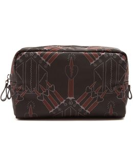 Love Blade-print Washbag