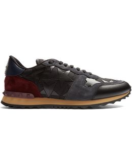 Rockrunner Leather And Suede Trainers