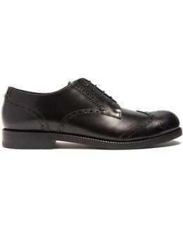 Rockstud-heel Leather Brogues