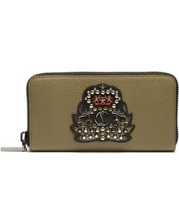 Panettone Crest-embellished Leather Wallet