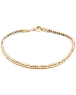 Cotton And Yellow-gold Bracelet