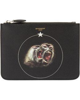 Screaming Monkey Leather Document Holder