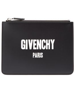 Logo-print Small Leather Pouch