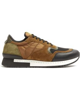 Runner Active Low-top Nylon And Leather Trainers