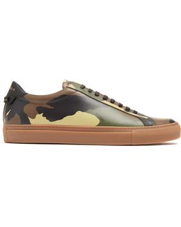 Urban Street Camouflage-print Leather Trainers