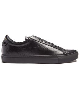 Urban Street Low-top Embossed-leather Trainers
