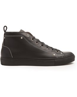 High-top Leather Trainers