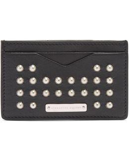 Studded Leather Cardholder